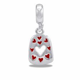 Davinci Beads Cut-Out Heart Dangle
