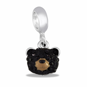 Davinci Beads CZ Black Bear
