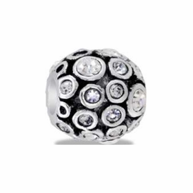 Davinci Beads CZ Globe Antiqued