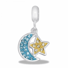 Davinci Beads CZ Moon and Star
