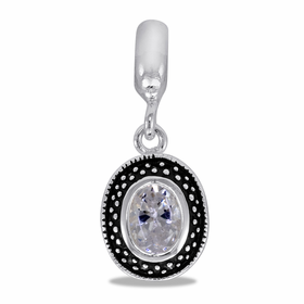 Davinci Beads CZ Oval Dangle