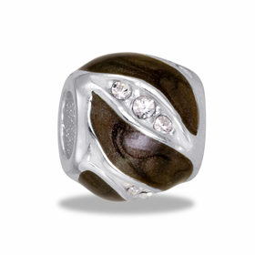 Davinci Beads CZ With Brown