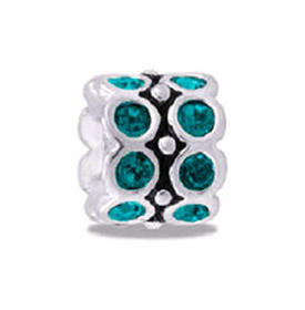 DAVINCI BEADS DECEMBER CZ WHEEL BIRHTSTONE