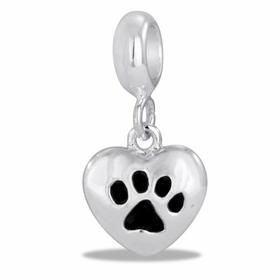Davinci Beads Dog Paw Heart