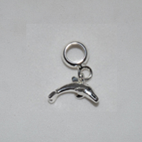 Davinci Beads Dolphin Silver Dangle