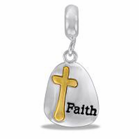 "Davinci Beads ""Faith"" Dangle Silver"