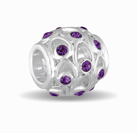 Davinci Beads February Crystal Orb Decorative