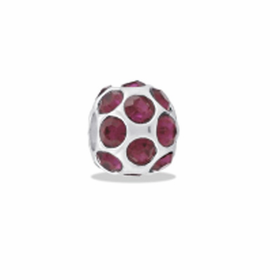 DAVINCI BEADS FEBRUARY CZ BALL BIRTHSTONE