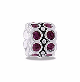 DAVINCI BEADS FEBRUARY CZ WHEEL BIRTHSTONE