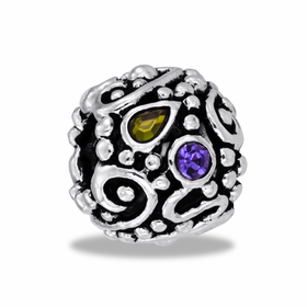 Davinci Beads Filigree CZ Globe