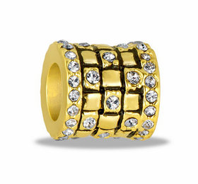 Davinci Beads Gold CZ Square