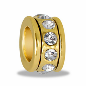 Davinci Beads Gold CZ Wheel