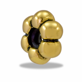 Davinci Beads Gold Flower Stopper