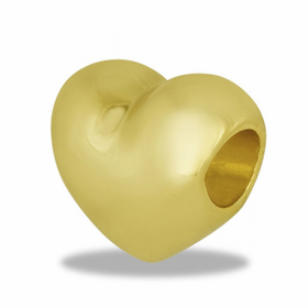 Davinci Beads Gold Heart