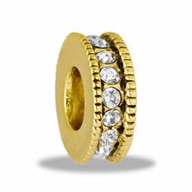 Davinci Beads Gold Large CZ Wheel