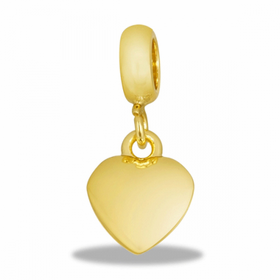 Davinci Beads Gold Puff Heart