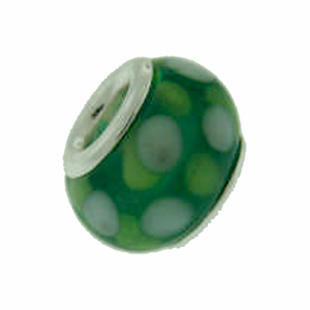 Davinci Beads Green and White