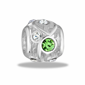 Davinci Beads Green CZ Decorative Cutout