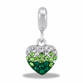 Davinci Beads Green Transition Heart