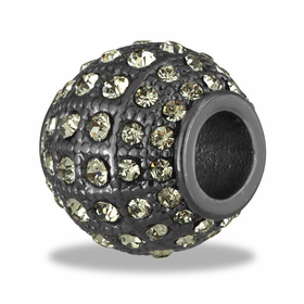 Davinci Beads Gunmetal CZ Decorative