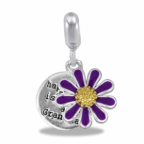 "Davinci Beads ""Happiness is being a Grandma"" Flower"