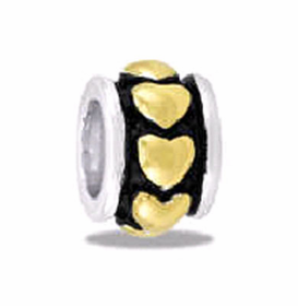 Davinci Beads Heart Large Two Tone