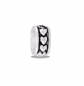 Davinci Beads Heart Small Silver
