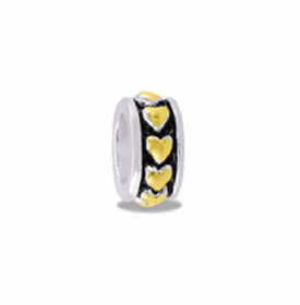Davinci Beads Heart Small Two Tone