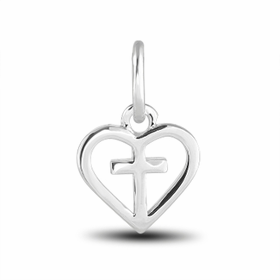 Davinci Beads Inspirations Cross In Heart Charm