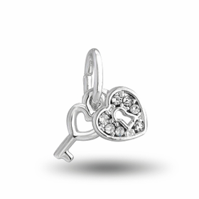 Davinci Beads Inspirations Key to My Heart Crystal Charm