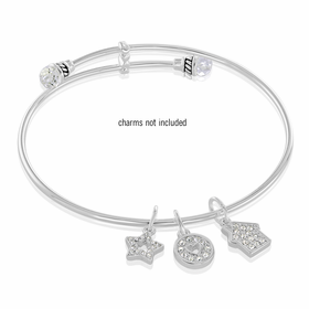 Davinci Beads Inspirations Silver Crystal Bangle