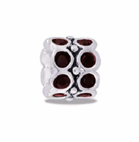 Davinci Beads January CZ Wheel Birthstone