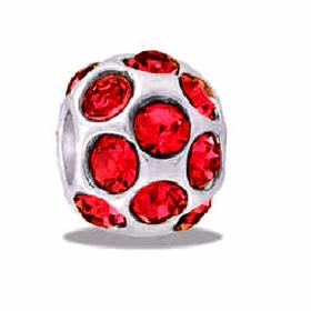 DAVINCI BEADS JULY CZ BALL BIRTHSTONE