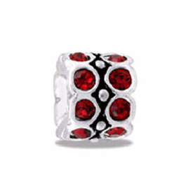 DAVINCI BEADS JULY CZ WHEEL BIRTHSTONE