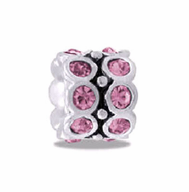DAVINCI BEADS JUNE CZ WHEEL BIRTHSTONE