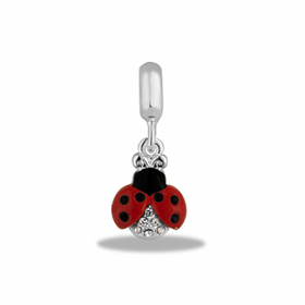 Davinci Beads Lady Bug Crystal Dangle