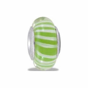 Davinci Beads Lime Stripe