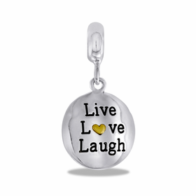 "Davinci Beads ""Live Laugh Love"" Silver"