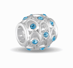 Davinci Beads March Crystal Orb Decorative