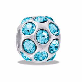 DAVINCI BEADS MARCH CZ BALL BIRTHSTONE