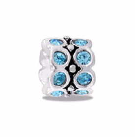 DAVINCI BEADS MARCH CZ WHEEL BIRTHSTONE