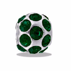 DAVINCI BEADS MAY CZ BALL BIRTHSTONE