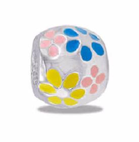 Davinci Beads Multi-Color Daisies Enamel