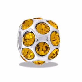 DAVINCI BEADS NOVEMBER CZ BALL BIRTHSTONE