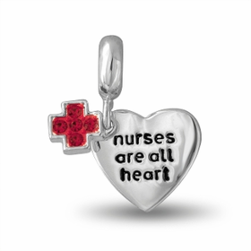 Davinci Beads NURSES ARE ALL HEART Heart