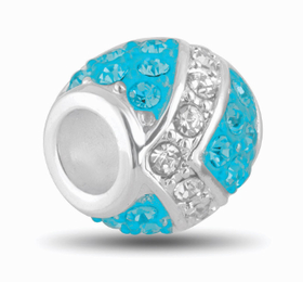 Davinci Beads Ocean and Silver Decorative Crystal