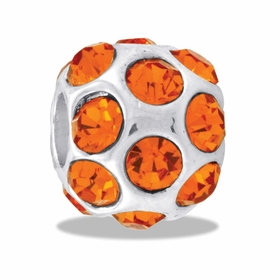Davinci Beads Orange CZ Globe