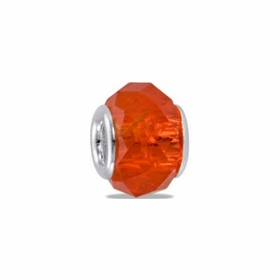 Davinci Beads Orange Faceted