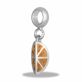 Davinci Beads Orange Slice Dangle