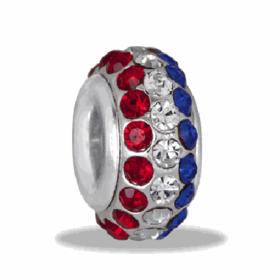 Davinci Beads Patriotic 3 Row Cyrstal
